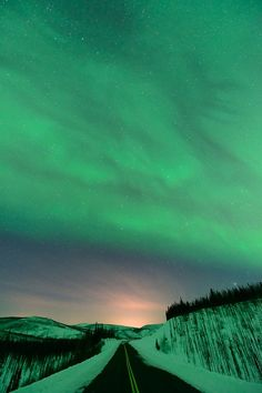 The only place the world turns green is in the Northern Lights.
