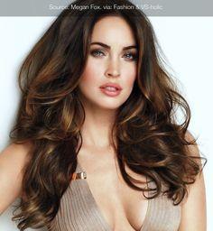 Carmel dark brown hair color