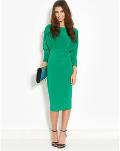 Ribbon Long Sleeve Midi Dress-if I felt comfortable in a pencil skirt. They're so darn cute, but I ain't built for them.