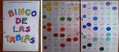 Rincón de una maestra: El bingo de las tablas Math For Kids, Fun Math, Activities For Kids, English Classroom, Math Classroom, Math Tables, Study Methods, Maila, Third Grade Math