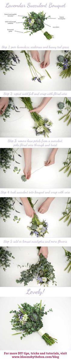 DIY Lavender Succulent Bouquet - Budget Friendly Beauty