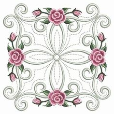 Pearl Roses Quilt 10 - 3 Sizes! | Floral - Flowers | Machine Embroidery Designs | SWAKembroidery.com Ace Points Embroidery