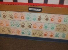 """Wall of Fame"" handprints like Hall of Fame concrete handprints!"
