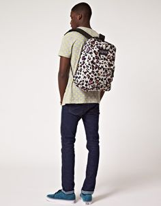 Cheetah print Jansport......they couldn't find a girl?