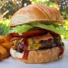 Double Bacon Cheddar Smokehouse Burger made with Lipton® Recipe Secrets®