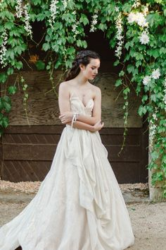 Gown: Carol Hannah Senara | Styling & Coordination: Two Roads Event Co | Florals: Scarlett & Grace | Photography: Justina Bilodeau | Venue: Whetstone Winery