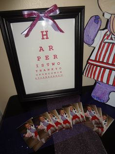 Harpers eye chart for her doc mcstuffins party. Love this and could use it in their room after