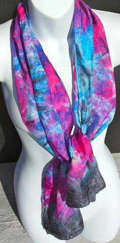 Luminosity SILK SCARF Hand Painted Silk by SilkScarvesJoanReese, $70.00