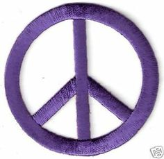 Purple eqaules sign | Purple Hippy Peace Sign Symbol Patch Applique | eBay