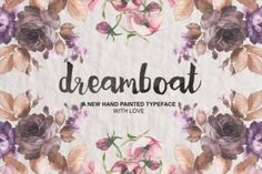 http://Dreamboeat is a beautiful hand paintedfont by Dmitriy Chirkov from MediaLab.
