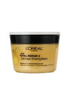 Five minutes with this Best of Beauty-winning Paris Advanced Haircare Total Repair 5 Damage-Erasing Balm and dry, fried, frizzy hair looked impressively shinier, stronger, and smoother. The Body Shop, Summer Hairstyles, Cool Hairstyles, Elegant Hairstyles, Pixie Hairstyles, Maybelline, L'oréal Professionnel, Best Hair Mask, Damaged Hair Repair