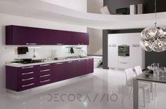 #violet #purple #kitchen #furniture #design #interior #style комплект в кухню Spar Barcellona, SP19