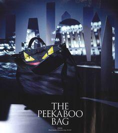 The Fendi Fall/Winter 2014-15 Men's Peekaboo with a Fendi Bag Bugs touch as seen on GQ UK