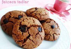 Çikolatalı Cookie Tarifi - Yemek Tarifleri Sitesi Divine Chocolate, Tasty, Yummy Food, Sweet Cookies, Bakery Cakes, Perfect Food, Sweet Tooth, Deserts, Food Porn