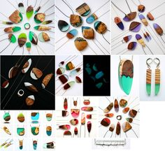 Wood & resin necklaces by the jeweler Britta Boeckmann
