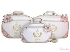 98e544c18 Kit Bolsa Maternidade Brasão BRS-02014 - Personalizado com o Nome do Bebê. Ateliê  Rose