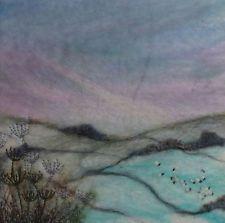 Item image Wool Felting, Needle Felting, Felt Art, Applications, Abstract Landscape, Textile Art, Fiber Art, Ann, Art Pieces