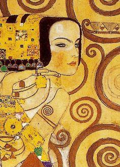 Esperando (fragmento). Lienzo de Klimt (1862-1918) 70x50cm