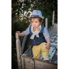Βαπτιστικό κουστούμι για αγόρι μπλε-κίτρινο