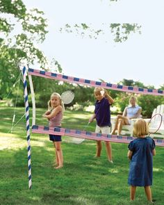 Red, White, and Blue Badminton Net How-To