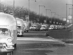 Here is an image from the 1956 WBCCI Caravan in Germany with Wally leading the pack!