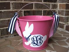 Personalized Easter Bucket 5 QT assorted colors by twosisters76, $22.00 Cute idea