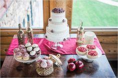 Wedding inspiration at Eagle Lakes Lodge featuring Ettiene by Sottero and Midgley #weddingday #wedding #bridalstyle #weddinginspiration #winterwedding #weddingdesserts #weddingcake