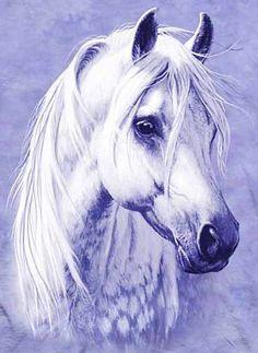 Оригинал схемы вышивки «белый конь»