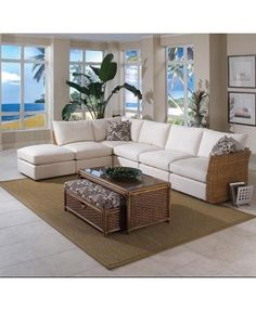 Merveilleux Grand Water Point Tropical Sectional Sofa With Two Pillows By Braxton Culler  At SummerHome Furniture