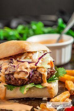 Asian Burger with Sriracha Mayo | 25+ Burger recipes