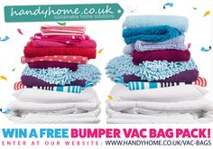 Enter this giveaway to win a FREE Bumper Vac Bag Pack!