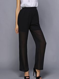 Women's Stylish High Waist Solid Color Loose-Fitting Pants