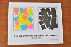 Creation Day 1: God Created Light Preschool Craft