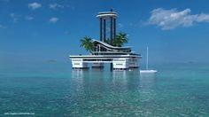 Kokomo Island, l'île privée flottante joue la carte de l'ultra-luxe - http://www.leshommesmodernes.com/kokomo-ailand-ile-privee-flottante/