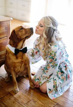Brides.com: 40 Adorable Ways to Include Your Pet in Your Wedding What's even more showstopping than this bride's flower crown? Her adorable bunny!Photo: Shalynne Imaging Photography