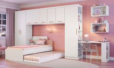If we use the trundle bed Dream Bedroom, Girls Bedroom, Bedroom Decor, Dreams Beds, Kid Spaces, Kid Beds, House Rooms, Kids House, Girl Room