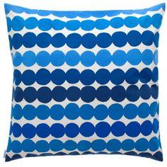 Räsymatto kuddfodral, 50x50, blå i gruppen Textil / Prydnadskuddar hos RUM21 AB (104023)