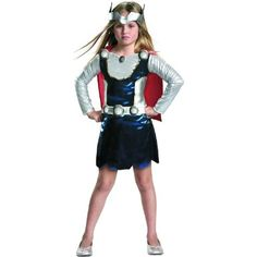 Amazon.com: Thor Girl Costume: Clothing  -for Lauren.  It was this or Hagrid.