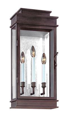 Ellsworth Candelabra Sconce | Brass Lantern Light, want this exterior sconce look.