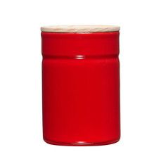 Storage Pot With Lid M Red, $37, now featured on Fab.