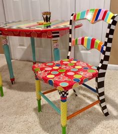 Kids Play Chair Whimsical Painted Kids Furniture Kids Painted Chair Play Table Tea Party Chair Painted And Personalized Kids Chair - Modern Furniture: Affordable, Unique, Edgy Decor, Hand Painted Chairs, Play Chair, Painted Chair, Party Chairs, Painted Kids Chairs, Kids Furniture, Furniture Projects, Whimsical Painted Furniture