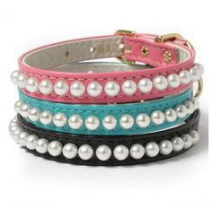These pretty pearl collars.   22 Adorable Dog Collars Every Dog Owner Needs