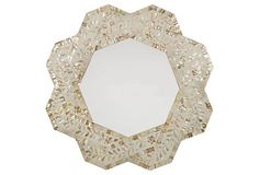 Luciana Wall Mirror, Mother-of-Pearl   Brilliant Reflections   One Kings Lane