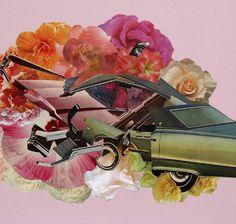 """Matthew Cusick Happy Ending, 2009 Mixta 14 x 11"""" """"La dimensión de la imagen es incomprensible, tal vez, porque no es de ninguna manera deleitable el caos o la destrucción, los estereotipos sociales, la idea fundamentada en una estabilidad que se apremia con bienes, por encima del rabioso ciclo natural y la supervivencia representándose en bellas guirnaldas, flores de vida, o de muerte; el riesgo es latente, como la descomposición necesaria."""" txt Maribel Castorena"""