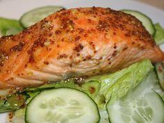 5 Ingredients: Mustard Roasted Salmon
