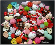 30 Assorted Sanrio friends Kawaii Flatback Resin Cabochons, Girly Style, Mix, cute, Decoden, DIY, Gift, Girl, Sweet, Handicraft on Etsy, $9.90