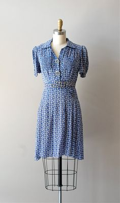 vintage 1930s Little Bluebells dress    #vintage dress