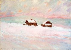 Claude Monet - Houses snow norway, 1895