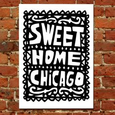 Sweet Home Chicago Hand-Printed Art Print ($10.71)