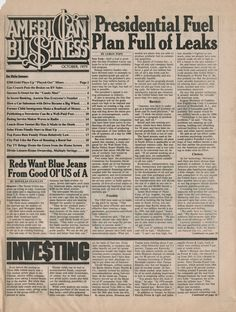 American Business, October 1979, Publisher: Ralph Ginzburg, Design Director: Herb Lubalin